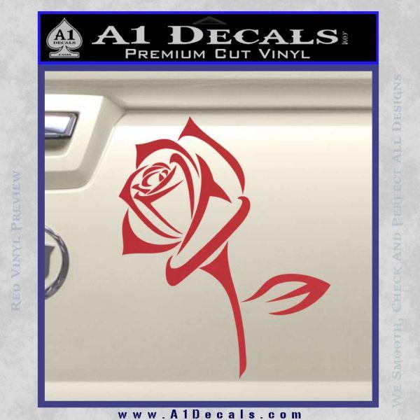 Rose Decal Sticker Long 187 A1 Decals