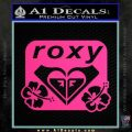 Roxy Dual Hibiscus Decal Sticker Pink Hot Vinyl 120x120
