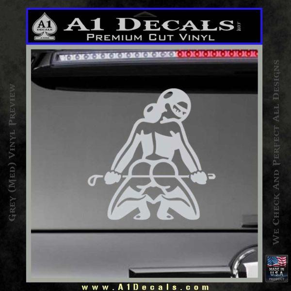 Sexy lady nude butt decal sticker grey bumper 120x120