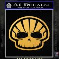 Shell Oil Skeleton D2 Decal Sticker Gold Vinyl 120x120