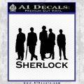 Sherlock Holmes Silhouettes D1 Decal Sticker Black Vinyl Black 120x120