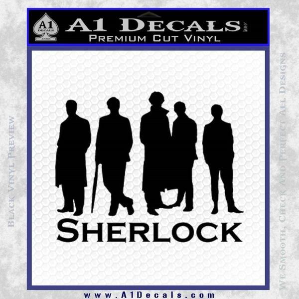 Sherlock Holmes Silhouettes D1 Decal Sticker Black Vinyl Black