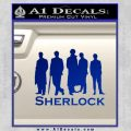 Sherlock Holmes Silhouettes D1 Decal Sticker Blue Vinyl Black 120x120