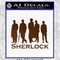Sherlock Holmes Silhouettes D1 Decal Sticker Brown Vinyl Black 120x120