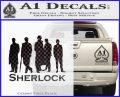 Sherlock Holmes Silhouettes D1 Decal Sticker CFB Vinyl Black 120x97