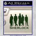 Sherlock Holmes Silhouettes D1 Decal Sticker Dark Green Vinyl Black 120x120