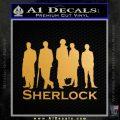 Sherlock Holmes Silhouettes D1 Decal Sticker Gold Metallic Vinyl Black 120x120