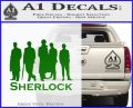 Sherlock Holmes Silhouettes D1 Decal Sticker Green Vinyl Black 120x97