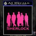 Sherlock Holmes Silhouettes D1 Decal Sticker Neon Pink Vinyl Black 120x120