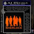 Sherlock Holmes Silhouettes D1 Decal Sticker Orange Emblem Black 120x120