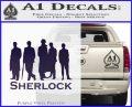 Sherlock Holmes Silhouettes D1 Decal Sticker Purple Vinyl Black 120x97