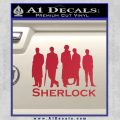 Sherlock Holmes Silhouettes D1 Decal Sticker Red Vinyl Black 120x120