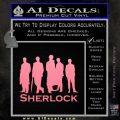 Sherlock Holmes Silhouettes D1 Decal Sticker Soft Pink Emblem Black 120x120