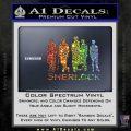 Sherlock Holmes Silhouettes D1 Decal Sticker Spectrum Vinyl Black 120x120