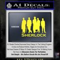 Sherlock Holmes Silhouettes D1 Decal Sticker Yellow Vinyl Black 120x120