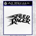 Speed Racer Title Decal Sticker Black Vinyl Black 120x120