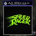 Speed Racer Title Decal Sticker Neon Green Vinyl Black 120x120
