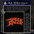 Speed Racer Title Decal Sticker Orange Emblem Black 120x120