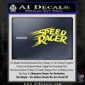 Speed Racer Title Decal Sticker Yellow Vinyl Black 120x120