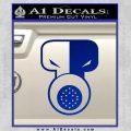 Tech N9ne Decal Sticker Blue Vinyl Black 120x120