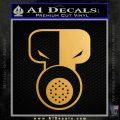 Tech N9ne Decal Sticker Gold Metallic Vinyl Black 120x120