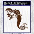 The Little Mermaid Decal Sticker Ariel Brown Vinyl Black 120x120