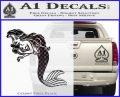 The Little Mermaid Decal Sticker Ariel CFB Vinyl Black 120x97