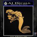 The Little Mermaid Decal Sticker Ariel Gold Metallic Vinyl Black 120x120