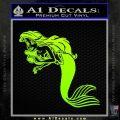 The Little Mermaid Decal Sticker Ariel Neon Green Vinyl Black 120x120