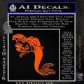 The Little Mermaid Decal Sticker Ariel Orange Emblem Black 120x120