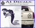 The Little Mermaid Decal Sticker Ariel Purple Vinyl Black 120x97