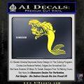 The Little Mermaid Decal Sticker Ariel Yellow Vinyl Black 120x120