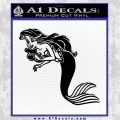 The Little Mermaid Decal Sticker Black Ariel Vinyl Black 120x120