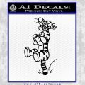 Tigger D3 Decal Sticker Black Vinyl Black 120x120