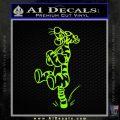 Tigger D3 Decal Sticker Neon Green Vinyl Black 120x120