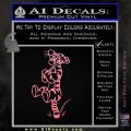Tigger D3 Decal Sticker Soft Pink Emblem Black 120x120