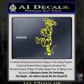 Tigger D3 Decal Sticker Yellow Vinyl Black 120x120