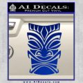 Tiki Decal Sticker D1 Blue Vinyl Black 120x120