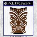 Tiki Decal Sticker D1 Brown Vinyl Black 120x120