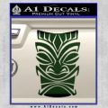 Tiki Decal Sticker D1 Dark Green Vinyl Black 120x120