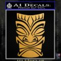 Tiki Decal Sticker D1 Gold Metallic Vinyl Black 120x120