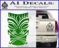 Tiki Decal Sticker D1 Green Vinyl Black 120x97