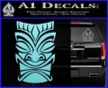 Tiki Decal Sticker D1 Light Blue Vinyl Black 120x97