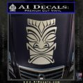 Tiki Decal Sticker D1 Metallic Silver Vinyl Black 120x120