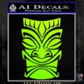 Tiki Decal Sticker D1 Neon Green Vinyl Black 120x120