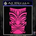 Tiki Decal Sticker D1 Neon Pink Vinyl Black 120x120