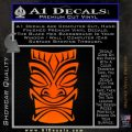 Tiki Decal Sticker D1 Orange Emblem Black 120x120