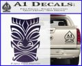 Tiki Decal Sticker D1 Purple Vinyl Black 120x97