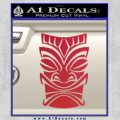 Tiki Decal Sticker D1 Red Vinyl Black 120x120