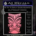 Tiki Decal Sticker D1 Soft Pink Emblem Black 120x120
